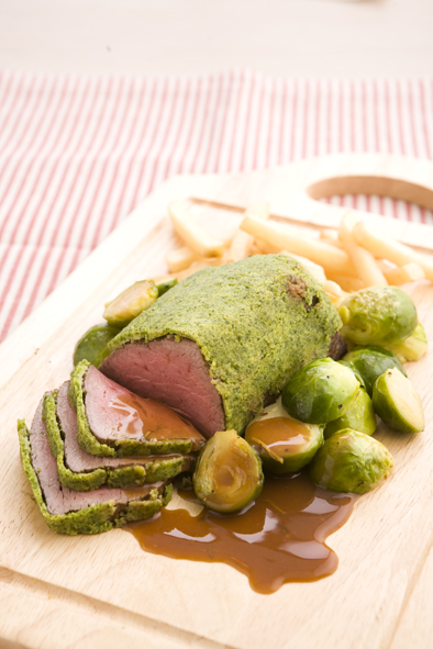 beef-fillet-with-herb-crust-and-port-rosemary-sauce