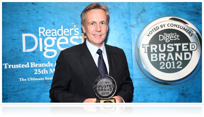 Reader's Digest Trusted Brand Gold Award 2012