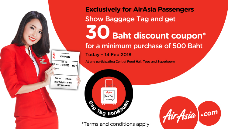 Exclusively for AirAsia Passengers – Bag Tag