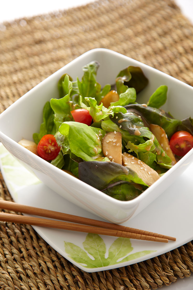 Organic Green Salad with Sesame Dressing