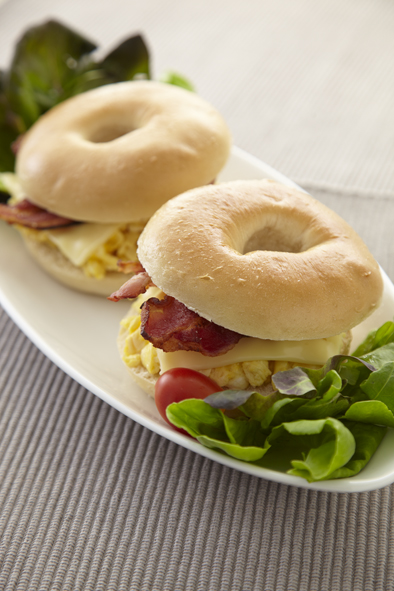 Bacon & Scrambled Eggs Bagle