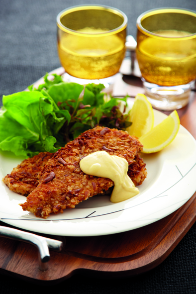 German Pretzel Crusted Chicken Schnizel