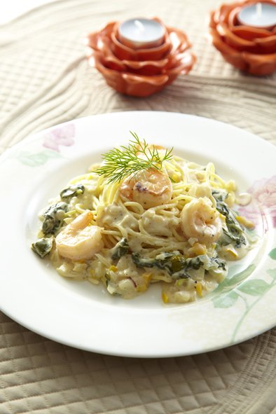 Shrimp Pasta with Homemade Cream Sauce
