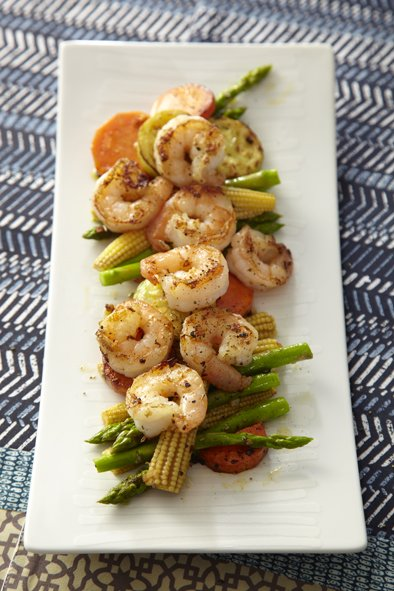 Grilled Shrimp with Garlic Butter