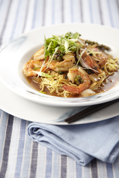 Stir-Fried Tiger Prawn with Black Pepper Sauce