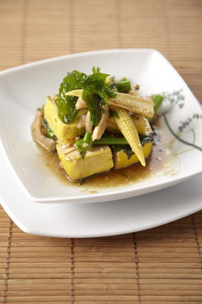 Stir-Fried Tofu with Holy Basil