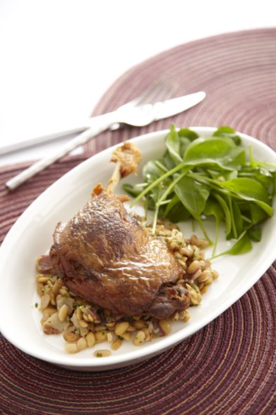 Duck Confit with Yellow Beans