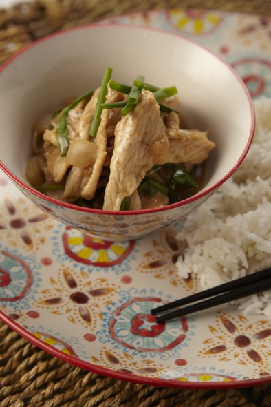 Stir-Fried Pork with Honey and Ginger
