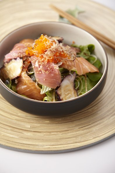 Seafood Salad with Ponzu Dressing